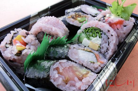 黒米寿司の盛り合わせ